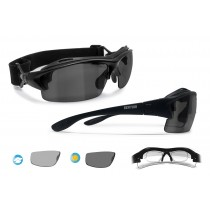 Photochromic Polarized Cycling Sunglasses for Prescription Lenses (matt black) P399FTA