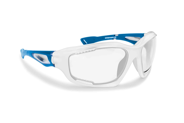 Occhiali Ciclismo MTB Bici con lente fotocromatica prodotti in leggerissimo TPX per ciclismo MTB running - Bertoni Italy F1000E