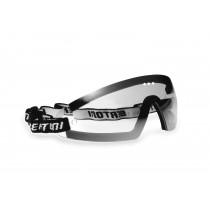 Maschera con lente trasparente leggermente specchiata antiurto antiappanante - elastico regolabile - clip ottica per lenti da vista | Bertoni Italy
