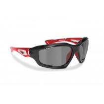 Occhiali Sportivi Fotocromatici Polarizzati Antivento Avvolgenti in TPX Antiurto per Ciclismo MTB Bici Running - P1000FTB Bertoni Italy