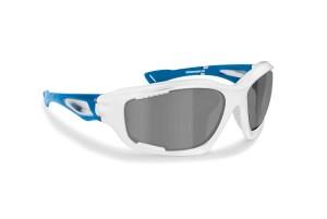 Occhiali Sportivi Fotocromatici Polarizzati Antivento Avvolgenti in TPX Antiurto per Ciclismo MTB Bici Running - P1000FTE Bertoni Italy