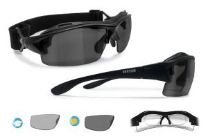 Occhiali Ciclismo da Vista Fotocromatici Polarizzati (nero opaco) P399FTA